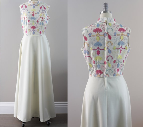 Billie Dress // 1970s 70s Vicky Vaughn Maxi Dress