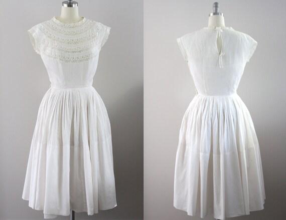Brighton Dress // 1950s 50s Vintage Lawn Dress
