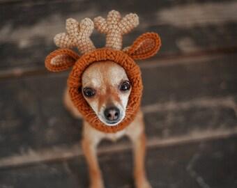ecfd2c0f8c4b4 Dog reindeer costume