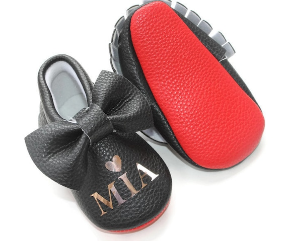 big sale a5d2a 08b96 baby shoes, personalized baby shoe, red sole, baby mocs, leather baby  shoes, baby mocs, crib shoes, booties, red bottom, soft sole baby shoe