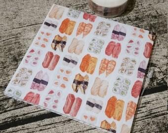 Washi Tape Sushi Platter