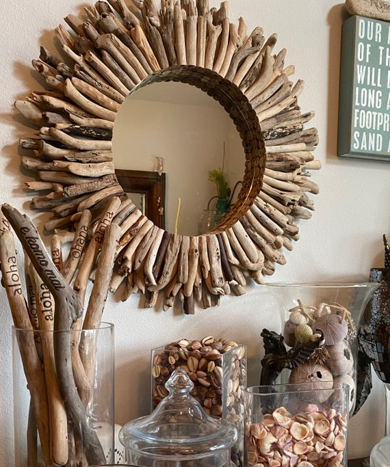 Order Driftwood Wreath Or Mirror Round, Driftwood Mirror Round