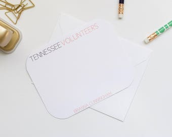Personalized Stationery, Tennessee Stationery, Collegiate Stationery, College Stationery, Custom Stationery, Flat Notecards
