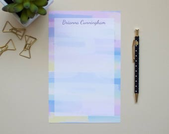 Personalized Notepad / Watercolor Notepad / Name Notepad / Custom Notepad