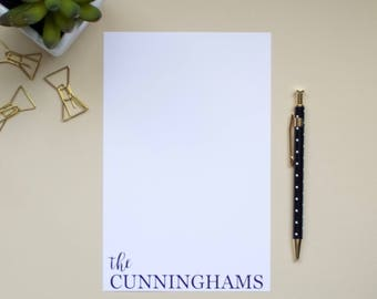 Personalized Name Notepad | Family Notepad | Custom Notepad