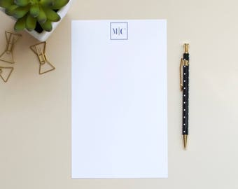 Personalized Monogram Notepad | Initial Notepad | Custom Notepad | Mens Notepad
