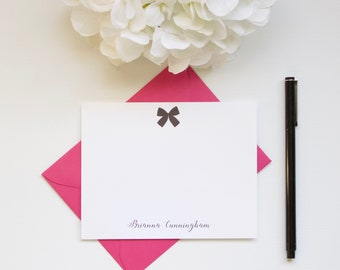 Personalized Stationery, Bow Stationery, Custom Stationery, Flat Notecards