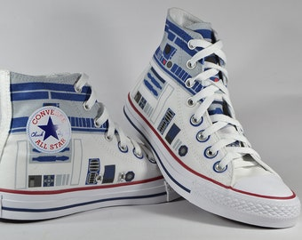 b0f6e8127b8a R2 D2 fan art inspired custom converse shoes star wars gift personalized  birthday gift sneaker
