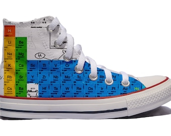 78cd528e8368 Periodic table Custom shoes   custom converse   personalized gift chemistry