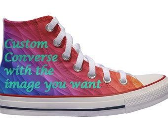 1b48cb562a6c Custom shoes Converse sneakers with the image you want birthday painted  personalized gift canvas