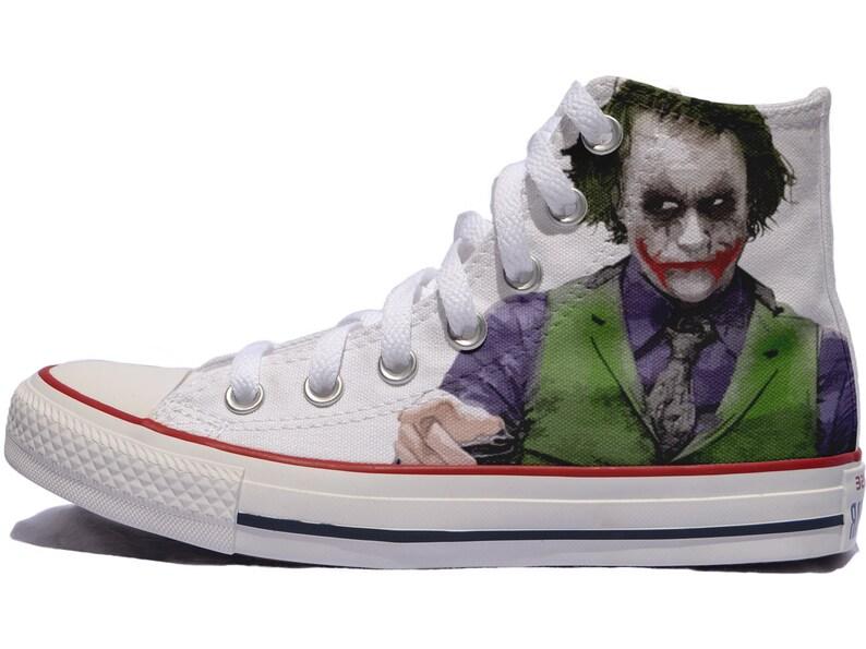 a825d963efb0 Joker custom shoes converse personalized batman fan art gitf