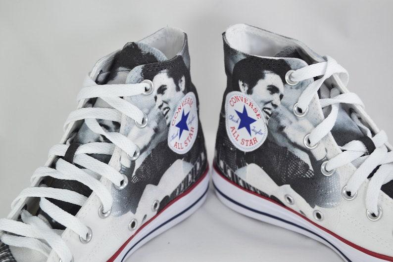 b2a794f34cf907 Elvis custom converse shoes Elvis Presley inspired gift music