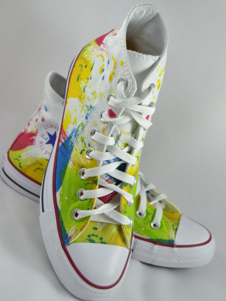 27377d1c258d8 Colorful custom converse splash painting customized shoes personalized gift