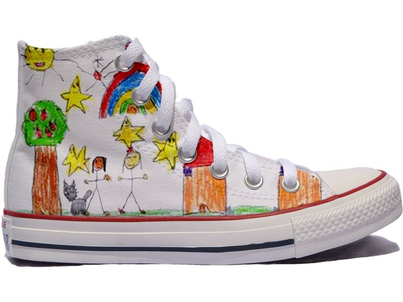 347c291f1b06ed Your child s drawing custom shoes   Converse customized