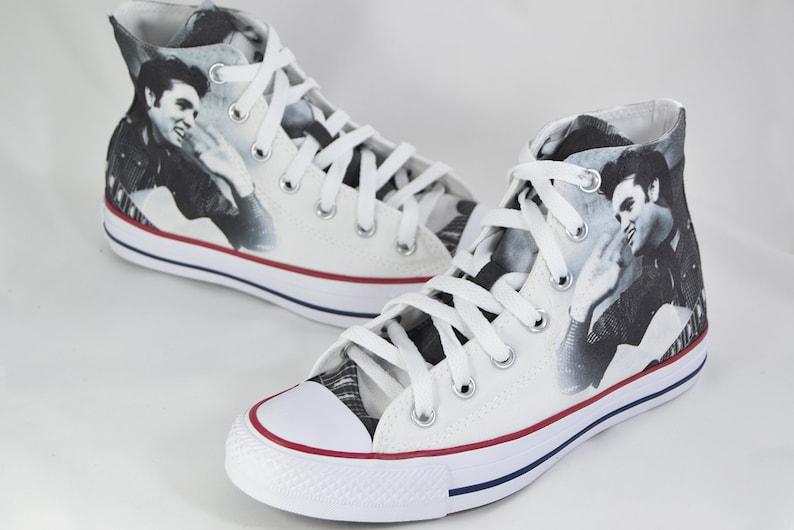 23c5dbc9d5a Chaussures converse personnalisées de Elvis Elvis Presley