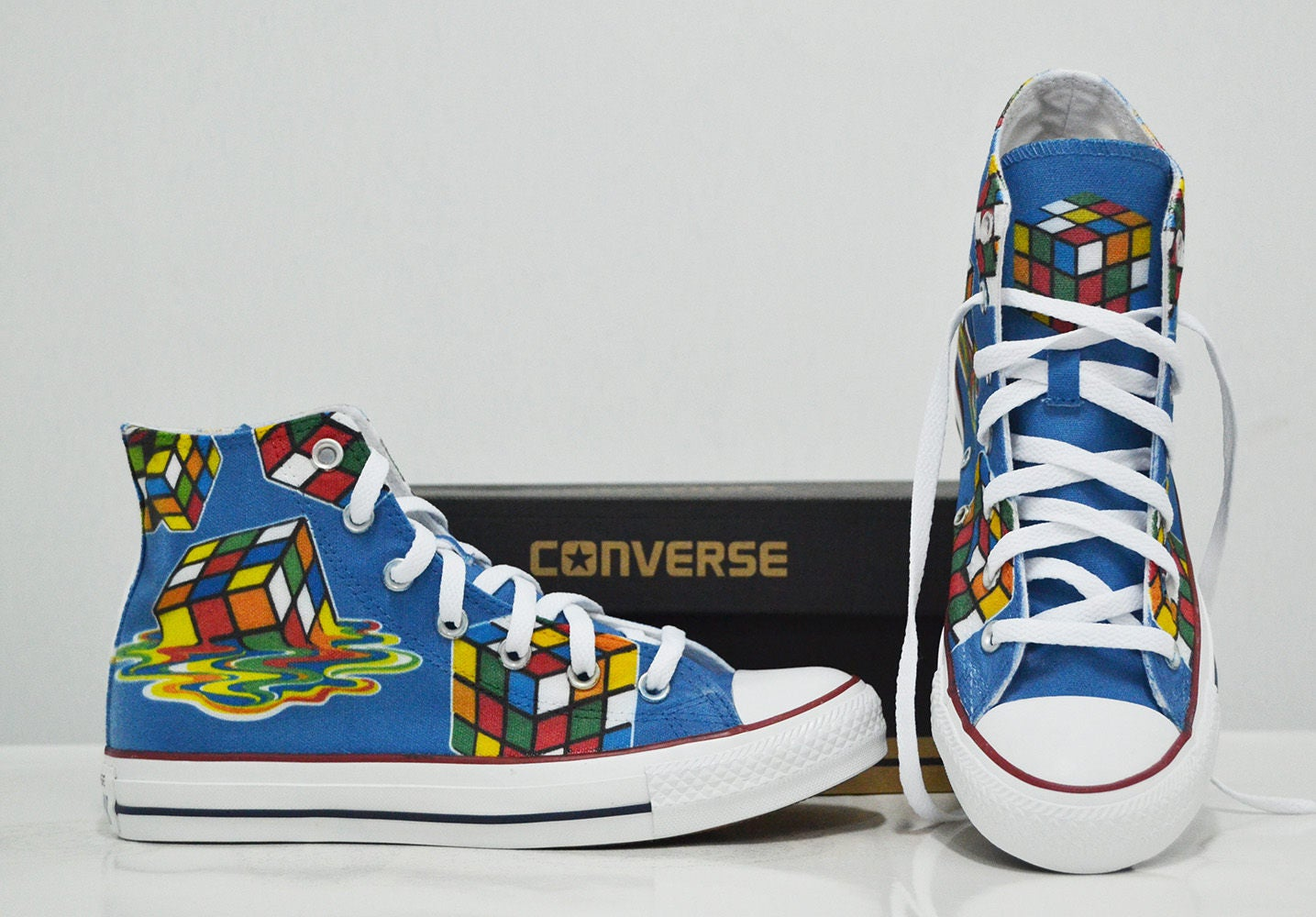 Rubik\'s Cube Custom Converse | Etsy
