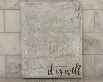 "It is Well Abstract Painting 8"" x 10"" 
