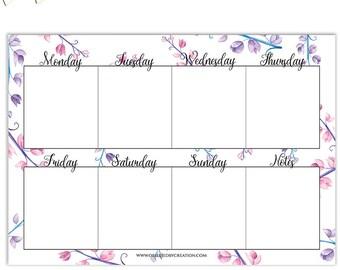 Weekly planner, Weekly planner 2017, Weekly planner printable, Planner inserts a5, Planner printable