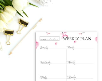 daily planner printable printable daily planner a5 planner etsy