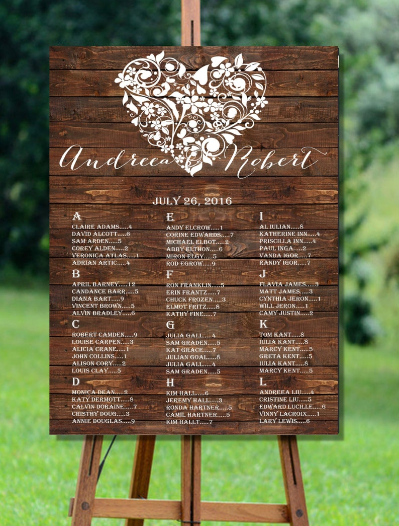 Tableau Matrimonio In Legno : Stampabile di tableau matrimonio rustico fienile legno etsy