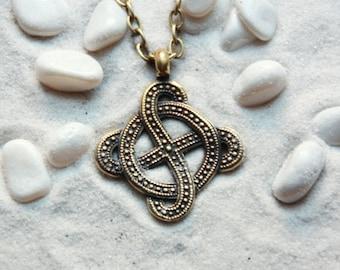Sun Cross Solar Cross Sunny Cross Sun Necklace Celtic Cross Sun Pendant Viking Jewelry: Bronze Handmade Pendant with chain
