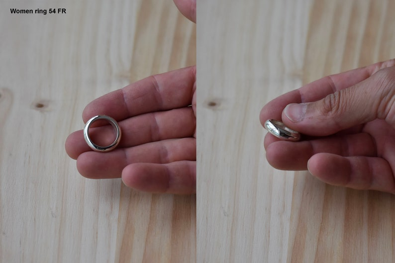 without solded Silver round Ring with hand engraving 100/% handmade casting metod