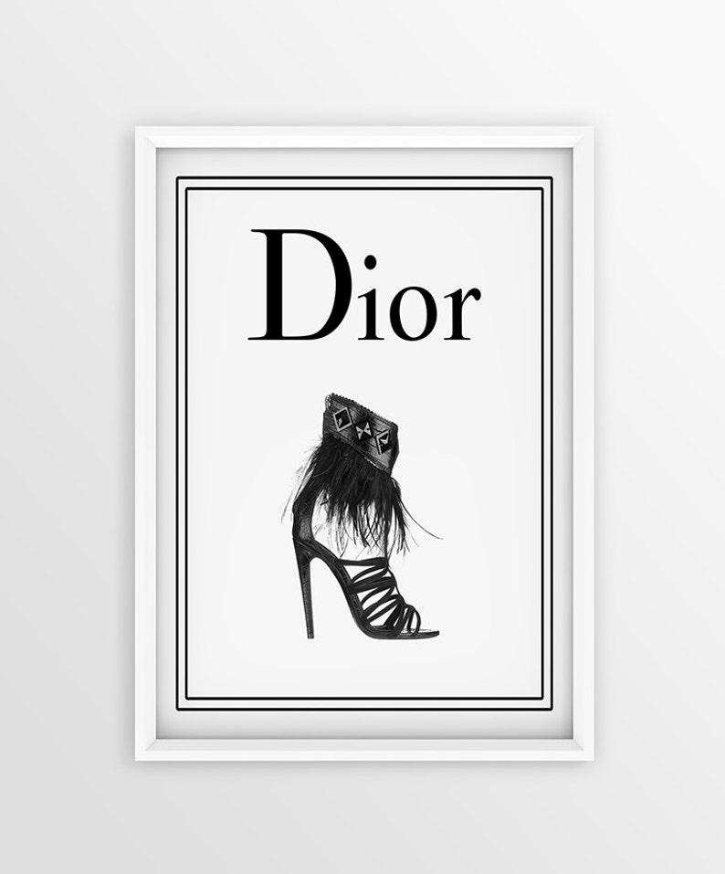c1ac13aded Shoes Dior Logo Print Closet Room Decor Art print Fashion | Etsy