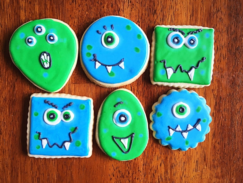 Monster Cookies Child Birthday Party Favors One