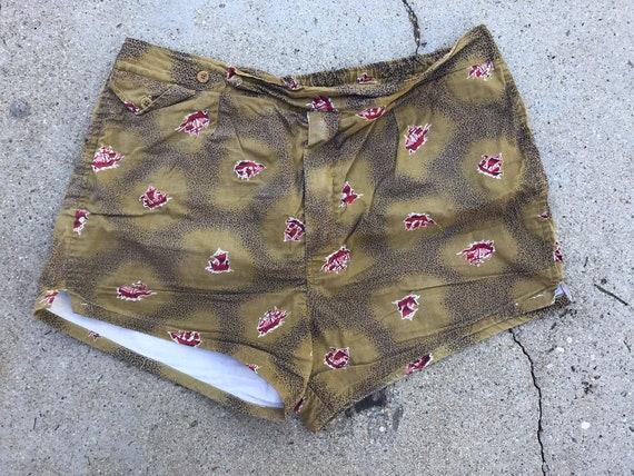 Vintage 70's Japanese swim trunks shorts