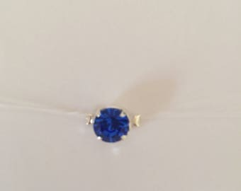 Rhinestone Swarovski sapphire blue nylon thread