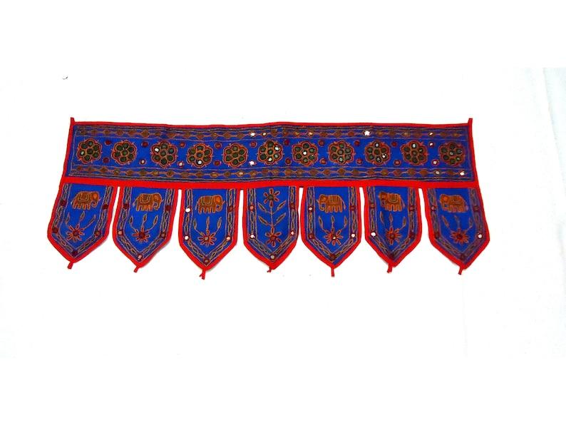 Toran Indian Mirror Door Hanging Embroidered Cotton Door Valance Tapestry Toran