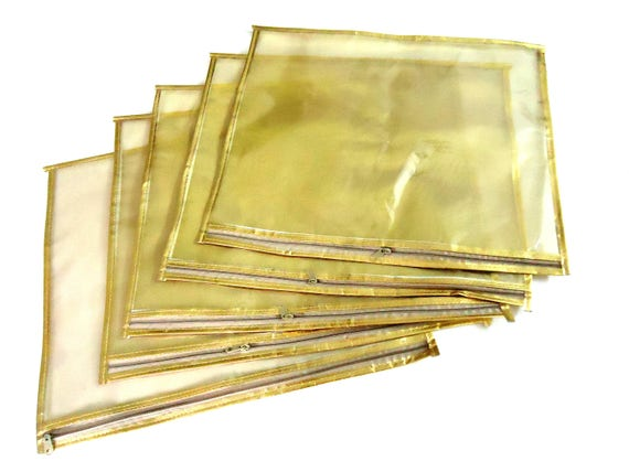 Sacs de Sari, saree couverture, vêtements gardant en plastique et sac en tissu tissu, sac de rangement 4 sari avec fermeture éclair, étui de rangement vêtements, approvisionnement de mariage