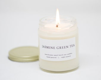 100/% Natural Scented Soy Wax Candle Green Tea /& White Pear