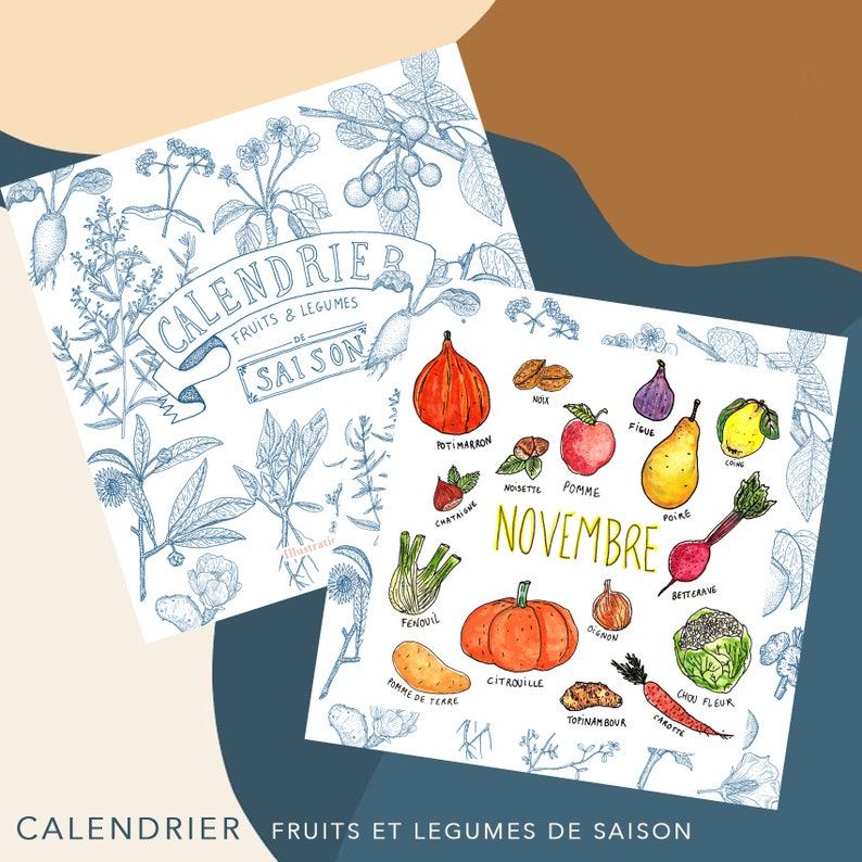 Calendar of seasonal fruits and vegetables image 0