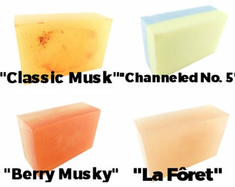Musk Collection 4 Bars //vegan, made in canada/