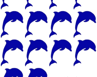 Blue Sparkly Jewel Holographic Dolphin Pasties Body Stickers Ocean Sea Life