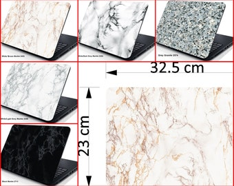 """Laptop Skin Cover Sticker Decal Marble Various and Colours Designs Protector Premium Quality By DC Fix For Size: 13.3"""" Laptops"""