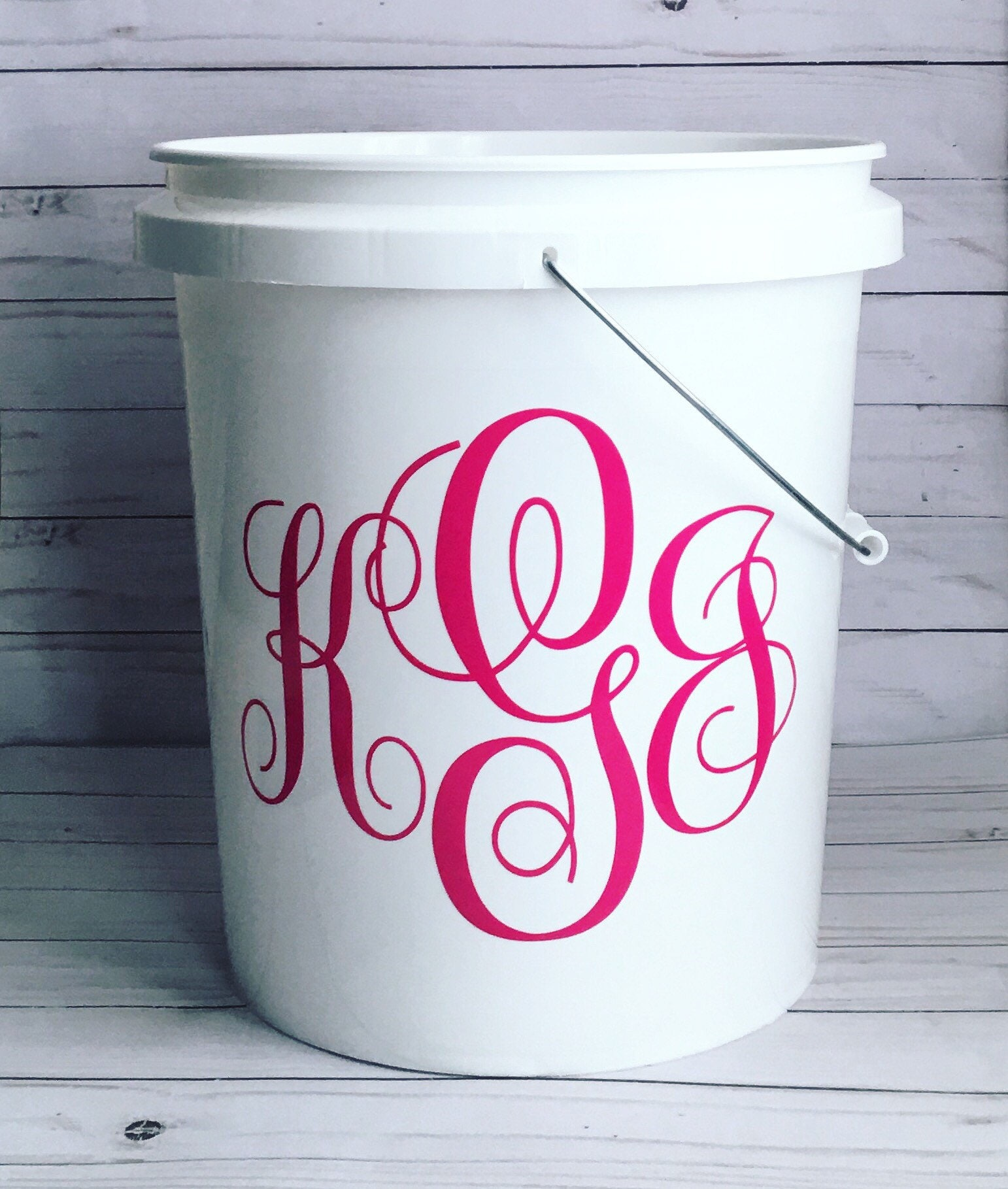Decorated Personalized/Monogrammed 5 Gallon Buckets/Easter | Etsy