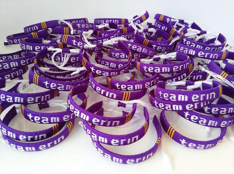 Custom Name Bracelets Party Favor Charity Bracelets Friendship Bracelet Team Name Personalized Bracelets Sports Bracelets Company