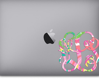 Monogram Decal for Laptop or Car Window