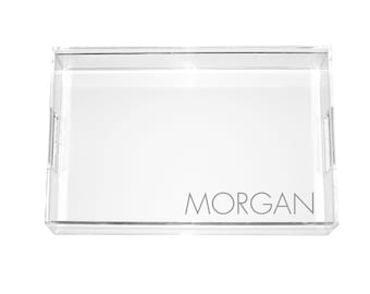Monogrammed Acrylic Serving Tray - FOUR SIZES!