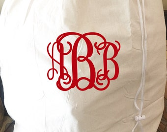 Monogrammed Laundry Bag - Traditional Design - Large OR Travel Size