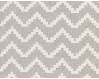 7fd9a6c617 Linen Fabric - White and Natural Fabric - Curtain Fabric - English Fabric -  English Linen - Scandinavian - Geomentric - Modern - Chevron