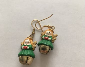 Vintage Angel Earrings //Holidays //Christmas