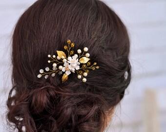Bridal hair pins Crystal hair pins Wedding hair clip Rhinestone hairpin Wedding bobby pins Flower hair accessory Wedding floral hair pins