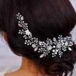 Wedding headpiece for wedding hairpiece for veil Wedding hair piece Bridal pearl halo White hair piece Bridal hairpiece Bridal headpiece