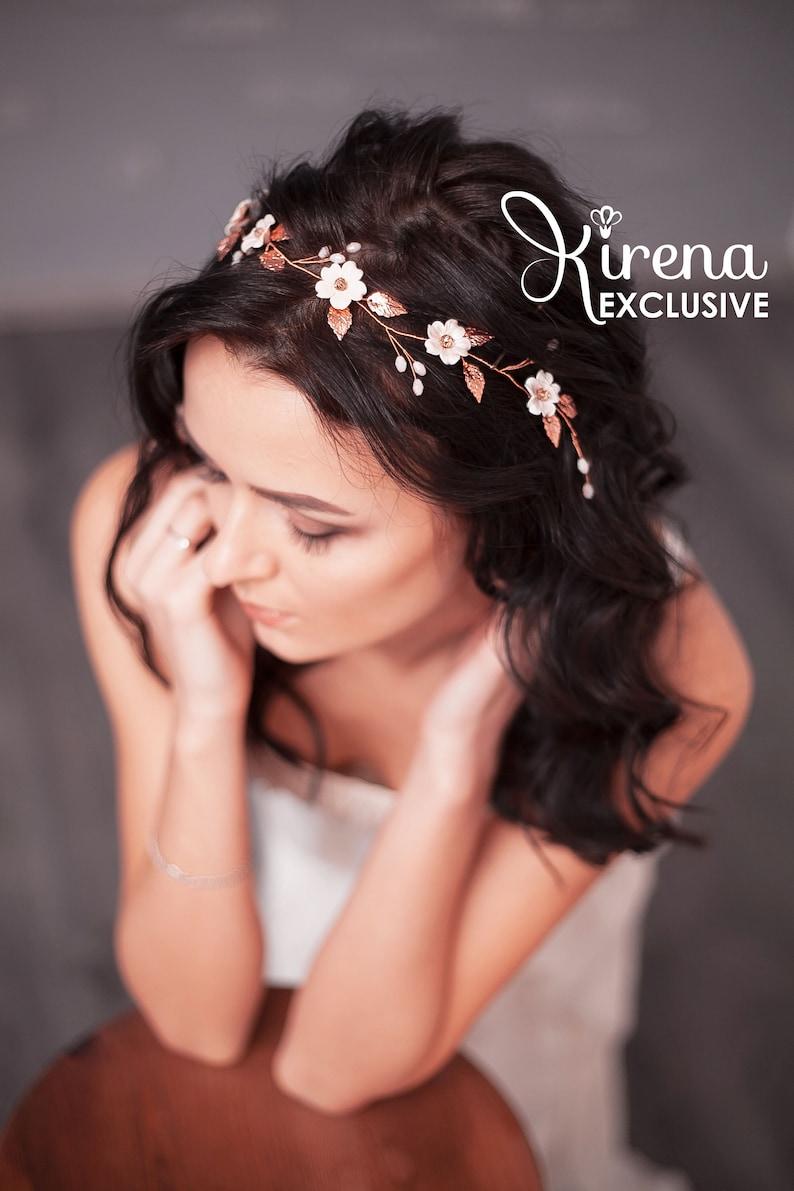 Wedding Headpiece With Crystals Wedding Hair Piece Bridal Hair image 0