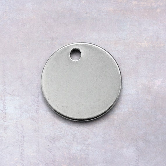 100x Copper Round Circle Stamping Blank Tags for Metal Stamping 8mm Diameter