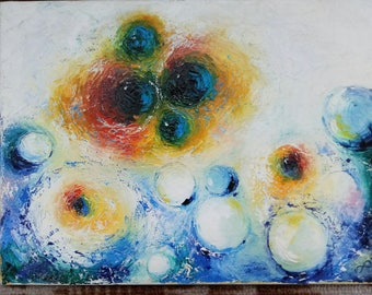 Bubble painting, abstract bubbles, abstraction, water abstract