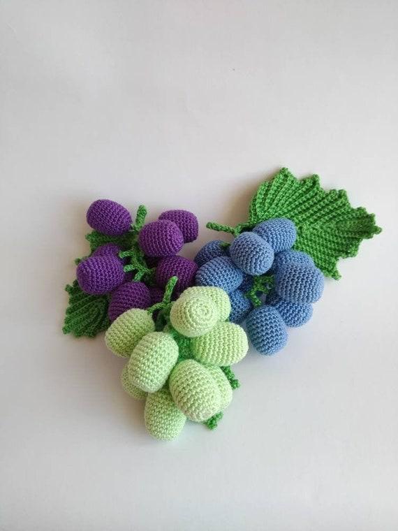 GRAPE Crochet Pattern PDF - Crochet grape pattern Bunch of grapes ...   760x570